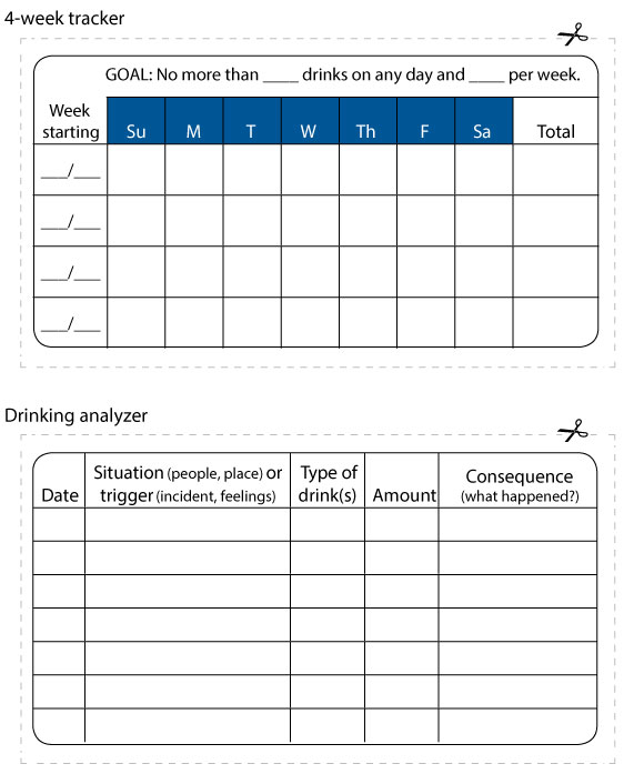 Drinking tracker and analyzer cards